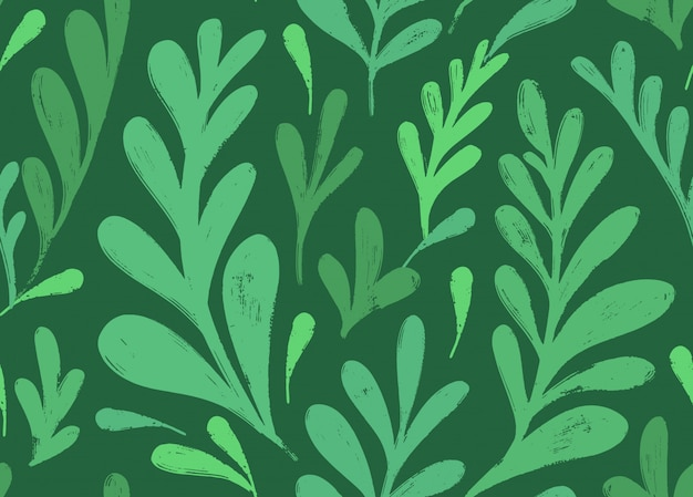 Vector seamless pattern with botanical motif.