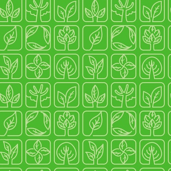 Vector seamless pattern with ecology symbols