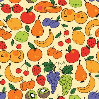 Vector seamless pattern with fruit. can be used for wallpaper
