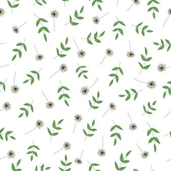 Вектор бесшовный образец с садовыми цветами.