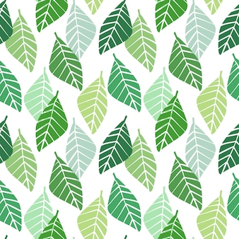 Vector seamless pattern with geometric leaves.