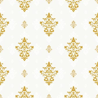 Vector seamless pattern with golden ornament. background repetition, endless ornate illustration