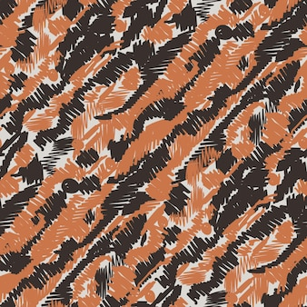 Vector seamless pattern with hand drawn brush strokes and stripes hand painted