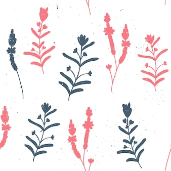 Vector seamless pattern with herbs.