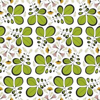 Векторный бесшовные модели с орнаментом листьев. дизайн для текстиля или упаковки
