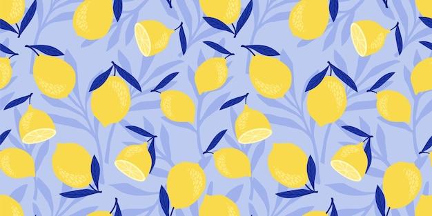 レモンとライムのベクトルのシームレスなパターン