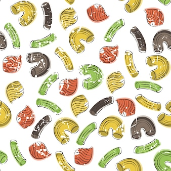 Vector seamless pattern with pasta