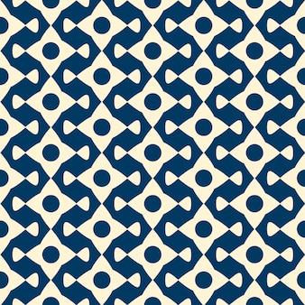 繰り返しオブジェクトとシームレスなパターンをベクトルします。モノクロのミニマリストグラフィックデザイン。