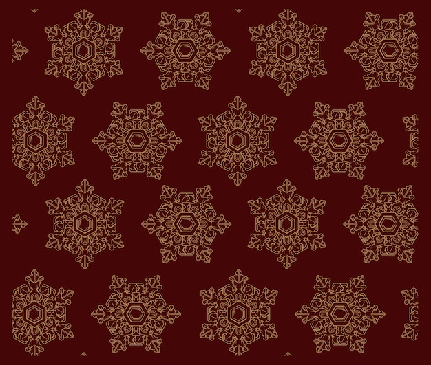 눈송이와 벡터 완벽 한 패턴입니다. 장식, 섬유 인쇄, 판화, 엽서 및 기타 여러 용도에 적합