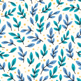 Vector seamless pattern with yellow leaves. hand drawn illustration