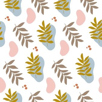 Vector seamless patterns with colorful abstract modern shape contemporary trendy flat illustration