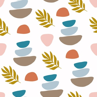 Vector seamless patterns with colorful abstract modern shape.