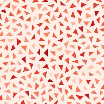 Vector seamless red shades jumble triangles pattern