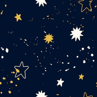 Vector seamless space pattern. doodle.