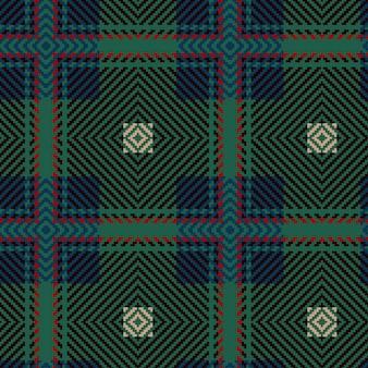ベクトルのシームレスなタータンパターン。ヴィンテージの背景。シームレスタータンチェック柄。ファッション幾何学デザイン。抽象パターン。スコットランドの織りのテクスチャ。クラシックなタータンチェックのシームレスパターン。