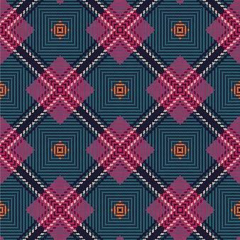 ベクトルのシームレスなタータンパターン。ヴィンテージクリスマスの背景。シームレスタータンチェック柄。ファッション幾何学デザイン。クリスマスの抽象的なパターン。スコットランドの織りのテクスチャ。クラシックなタータンチェックのシームレスパターン。