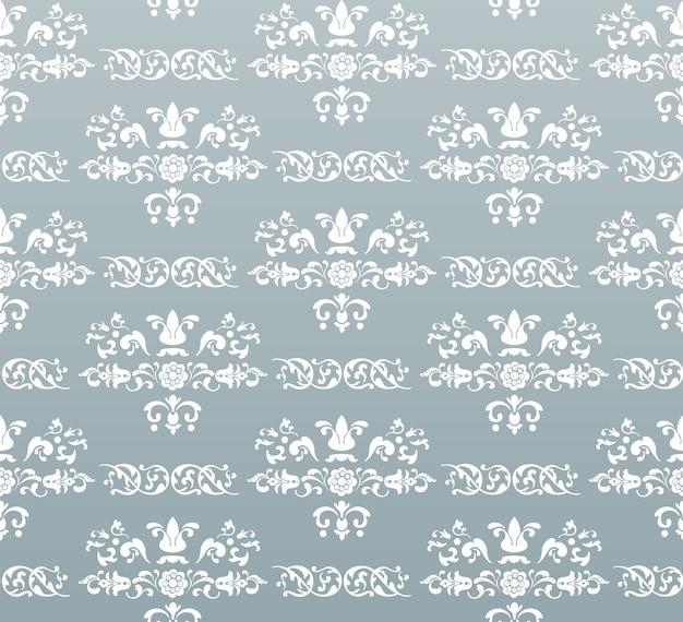 ベクトルシームレスなヴィンテージ王室の背景。ターコイズに白