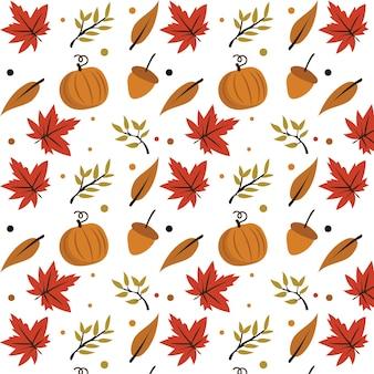 紅葉と秋の要素とシームレスなベクトル