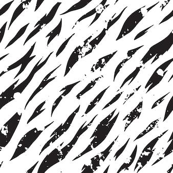 シームレスなゼブラパターンをベクトルします。黒と白の縞模様の背景。