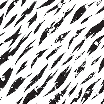 Vector seamless zebra pattern. black and white striped background.
