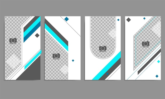 Vector set of abstract creative backgrounds with copy space