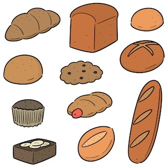 Vector set of bakery