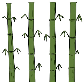 Vector set of bamboos