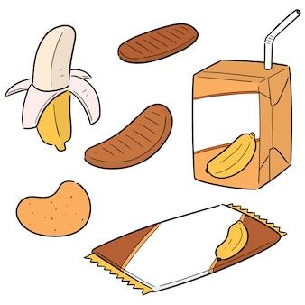 Vector set of banana product