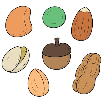 Vector set of beans