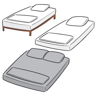 Vector set of bed