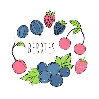 Vector set of berries.