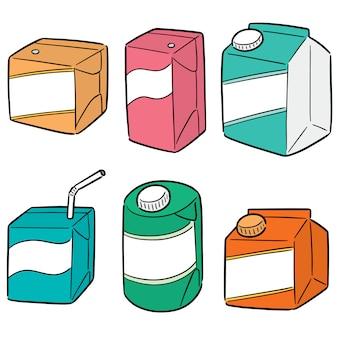 Vector set of beverage box