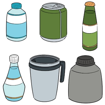 Vector set of beverage
