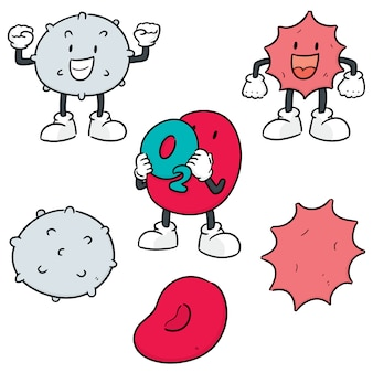 Vector set of blood cells