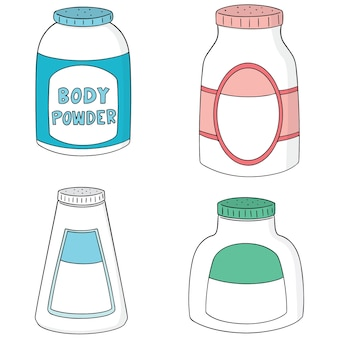 Vector set of body powder