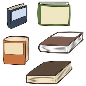 Vector set of books