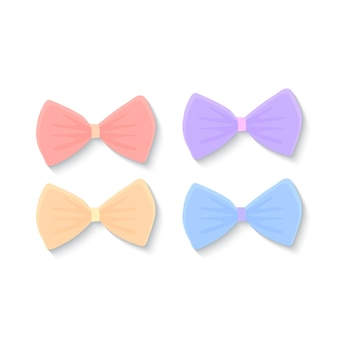 Vector set of bow ties