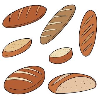 Vector set of bread