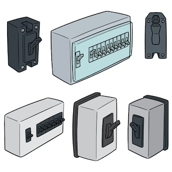 Vector set of breaker switch