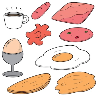 Vector set of breakfast