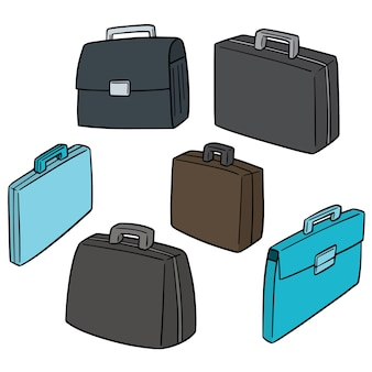 Vector set of briefcase