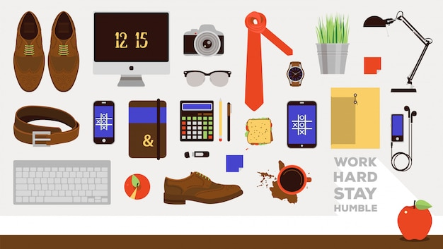 Vector set of business icons in flat design