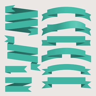 Set vettoriale di nastri di affari stile vintage per il design