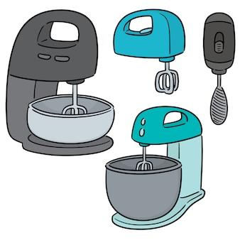 Vector set of cake mixer
