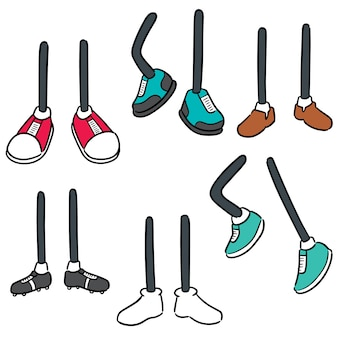 Vector set of cartoon leg