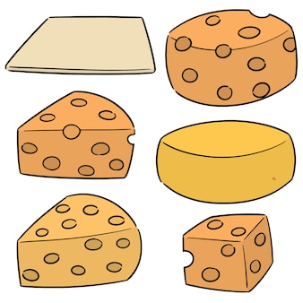 Vector set of cheese