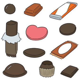 Vector set of chocolate