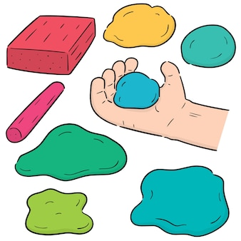 Vector set of clay for kid