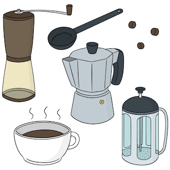 Vector set of coffee maker