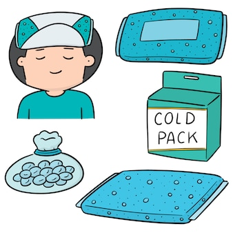 Vector set of cold pack